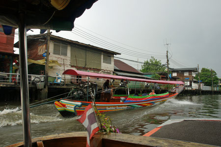 auf den Kanälen von Bangkok