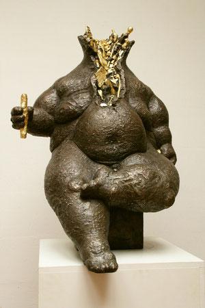 Herrscher, teilweise vergoldet, 1996, 96 cm