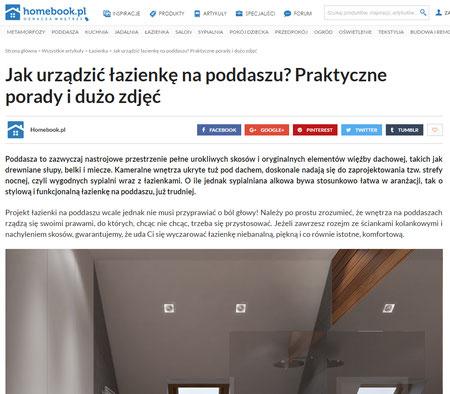 Jak urządzić łazienkę na poddaszu? Praktyczne porady i dużo zdjęć Publikacja na stronie Homebook.pl projekt wnętrza