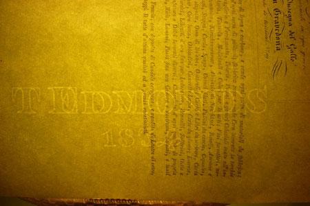In filigrana è leggibile la data di stampa: 1834