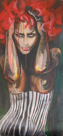 My Phantasy Burlesque I.     93X45 cm Acryl auf Holz