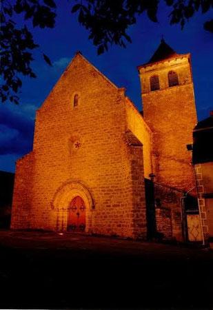 L'église de nuit