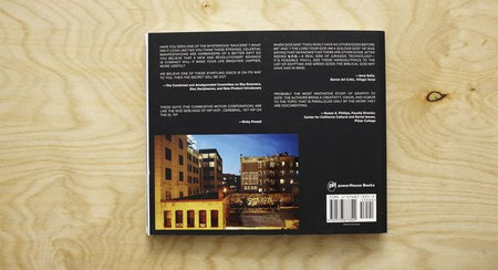 Back cover of U.F.O. by The Combustive Motor Corporation, published by powerHouse Books.