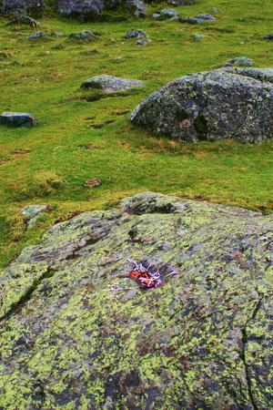 Minimal Landart, Cirque rouge, Pyrenäen, copyright N. Arun