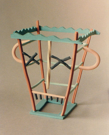 "Jughead 1980, acrylic on ceramic, Ht. 8"""