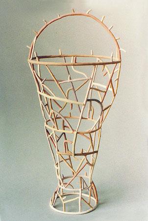 "Tisket 1979, acrylic on ceramic, Ht. 14"""