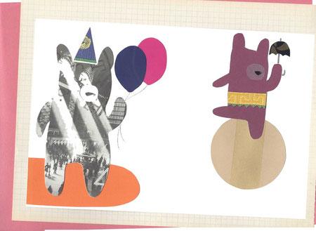 TECNICA: collage su carta / MISURE: 17 x 25,7cm