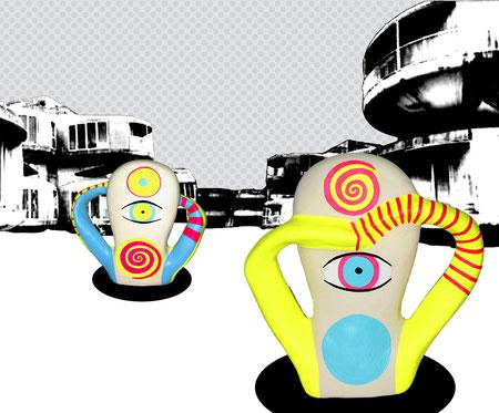 """Lost"" - Digital Print auf MDF 24x20cm 2008"