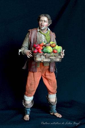 Venditore di frutta, pastore napoletano