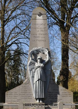 Omiécourt - G. VEREZ (sculpteur) / Fonderies du Val d'Osne