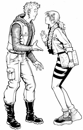 """Studio personaggi per il fumetto """"Beautiful"""" - Mondo Naif - 2000"""