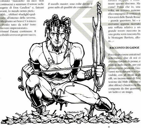"""Illustrazione per la rivista """"Kaos"""" - Granata Press - 1992"""
