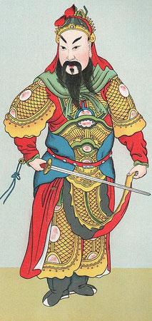 Le roi céleste, Ma. — En s'appropriant les personnages honorés par les bouddhistes les tao-che ont changé leurs habits et leurs noms, afin de détourner l'attention des bonzes.