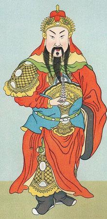 Li porte-tour. — Par exemple le grand roi T'ouo-t'a Li-t'ien-wang, Li, porte-tour, est un des protecteurs connus du taoïsme,   à peu près comme Wei-t'ouo-p'ou-sah pour le bouddhisme.