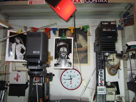 Camera_Oscura_05 Ingranditore Meopta Axomat 5 per 24x36 e Lupo M65 per 6x6