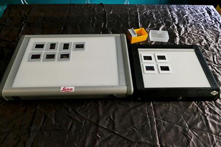 Visori Lightbox a luce diurna Leica e Paema