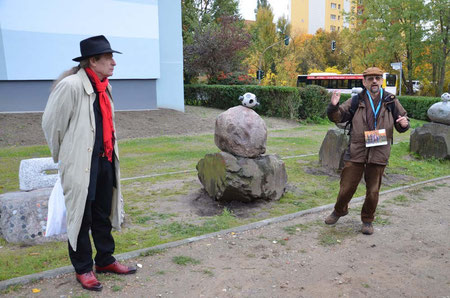 Prof. Schroeder Geologe und Rudolf J. Kaltenbach beim Eröffnungstag