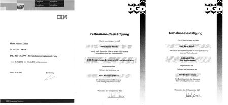 3 Datenbank-Lehrgänge 2002-2007