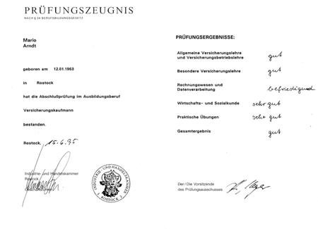 Externenprüfung zum Versicherungskaufmann (IHK)