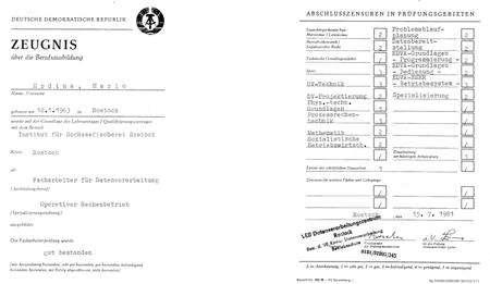 Meine erste Ausbildung :-) Der Abschluss ist dem Datenverarbeitungskaufmann (IHK) gleichgestellt.