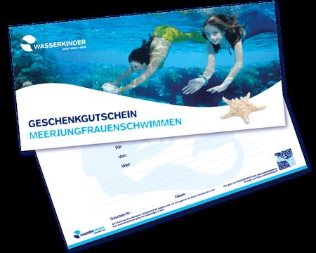 WASSERKINDER Geschenkgutschein Meerjungfrauenschwimmen