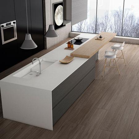 APAVISA LINETOP SUPERWHITE #apavisa #linetop #küche #küchendesign #küchenarbeitsplatte #kitchentop #kitchendesign #feinsteinzeug #dahofawoas #emanuelhofer
