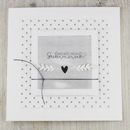 Grußkarte, Karte, Valentinstag, Herzen