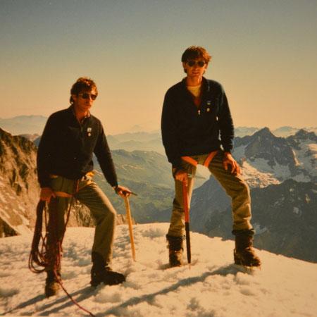 Hans + Richi auf dem Mönch, Juni 1986