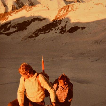 Markus + Hans im Aufstieg zum Mönch