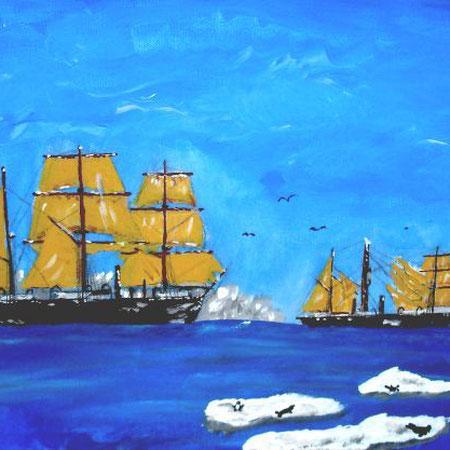 HMS ALERT + HMS DISCOVERY  40 x 50