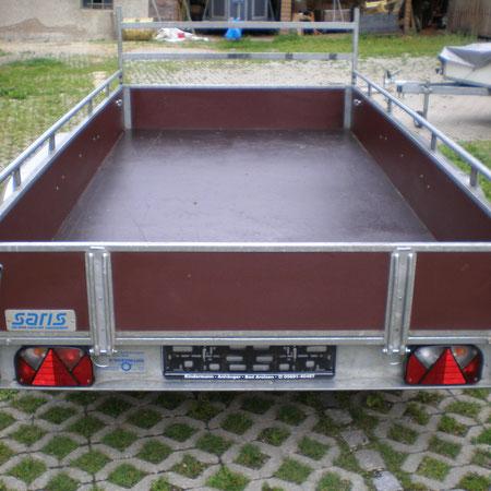 Holz Doppelachser 2000 KG