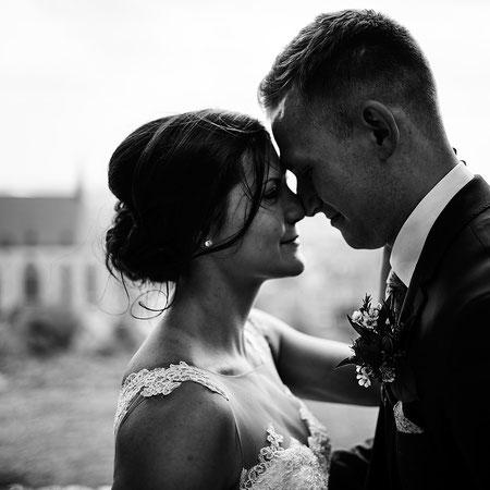 Verliebtes Paar im Profil