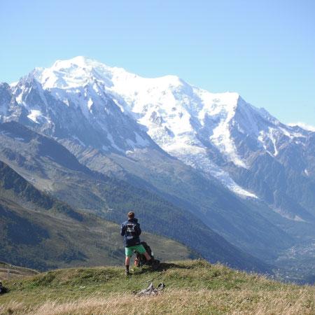 Der wahrscheinlich schönste Blick auf den Mont Blanc