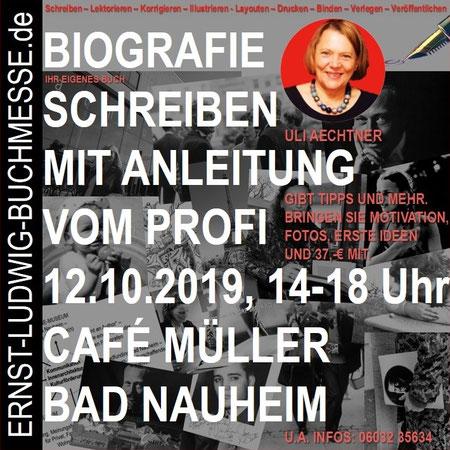 Einladung zum Schreibworkshop mit Uli Aechtner am 12.10.2019 im Vorfeld der Ernst-Ludwig-Buchmesse