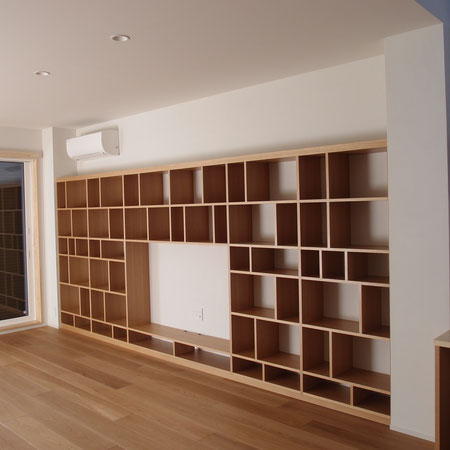 壁面収納 テレビボード 飾棚 本棚