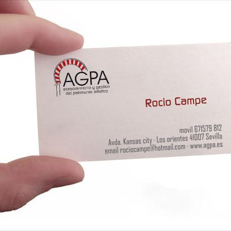 AGPA, Tarjeta de visita Rocío Campe