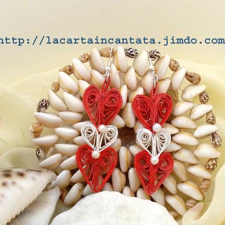 paper earrings, orecchini