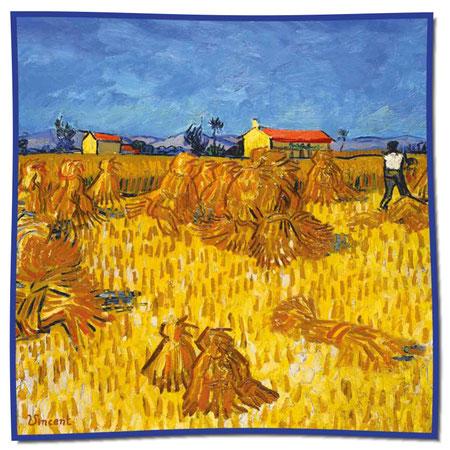 Artikel Nr. 1062 Ernte in der Provence - Van Gogh (100 x 100 cm)