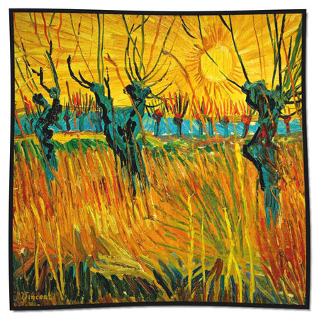 Artikel Nr. 1054 Weiden - Van Gogh (100 x 100 cm)