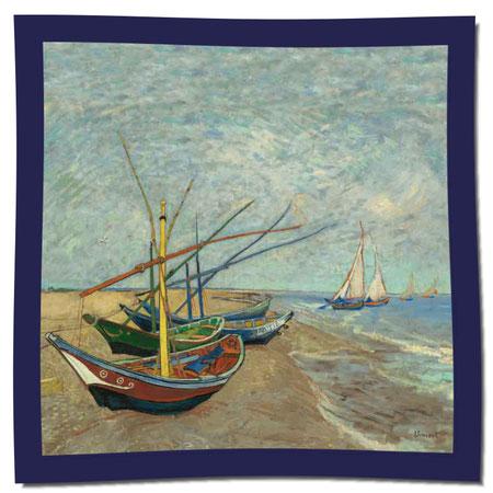 Artikel Nr. 1055 Fischerboote I - Van Gogh (100 x 100 cm)