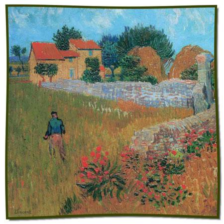 Artikel Nr. 1063 Bauernhaus Provence - Van Gogh (100 x 100 cm)