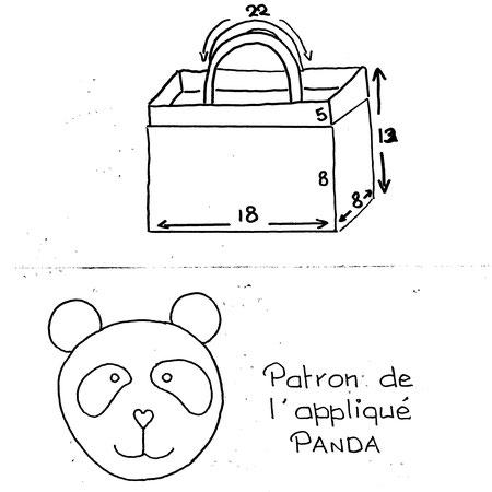 Patron appliqué panda