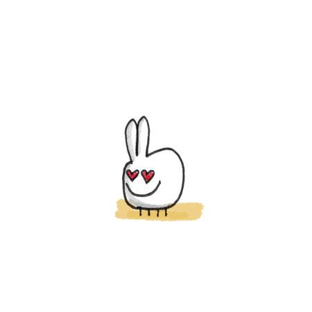Illustration verliebter Hase