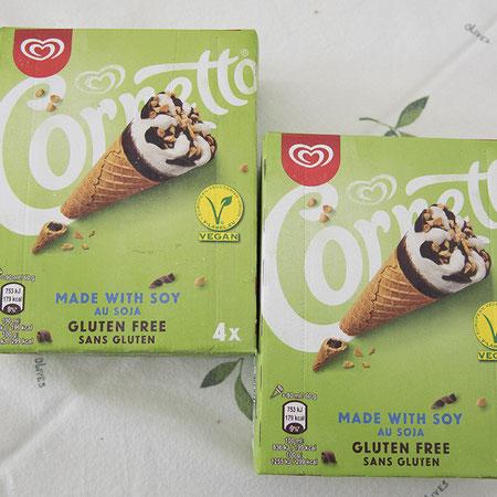 Veganes und glutenfreies Eis von Cornetto