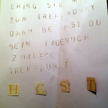 Täterbrief beim Detektivgeburtstag in Witten/Hattingen