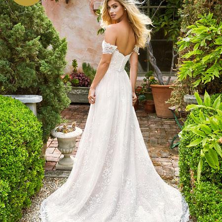 Frühling Sommer Brautkleid bei München myLovely rosa powder Moonlight Brautmode NEU Designer Empfehlung