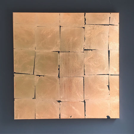 """Bronze""Blattgold a Acryl,0,6x0,6m,120€"
