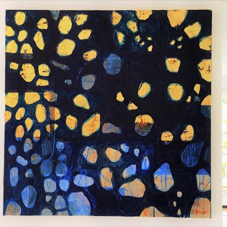 """""""Güldenland"""",Teebtl.,Blattgold,Acryl,0,5x0,7m,200€"""
