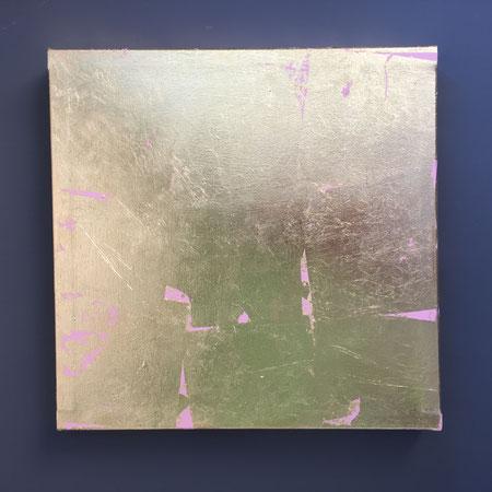 """Gold"" Blattgold /Acryl/Canvas 0,45x0,45m /95€"