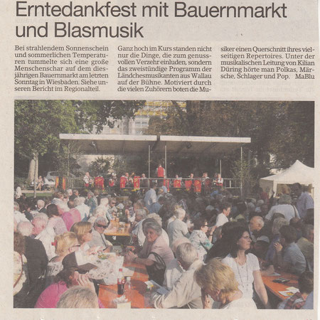 Bericht im Erbenheimer Anzeiger vom 30.09.2011